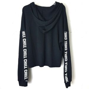 Raggs II Riches Hoodie Crop Top Sz L
